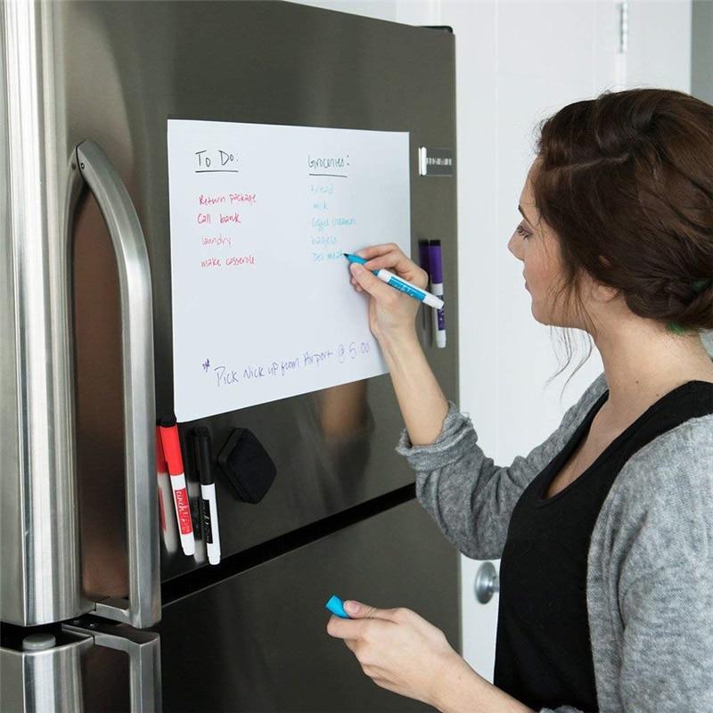 3_A4-Size-Dry-Wipe-Magnetic-Whiteboard-Pens-Vinyl-Fridge-White-Board-Refrigerator-Magnet-Note-Flexible-Remind