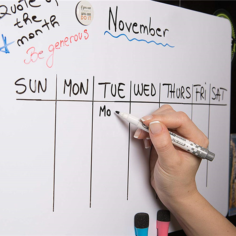 5_A4-Size-Dry-Wipe-Magnetic-Whiteboard-Pens-Vinyl-Fridge-White-Board-Refrigerator-Magnet-Note-Flexible-Remind